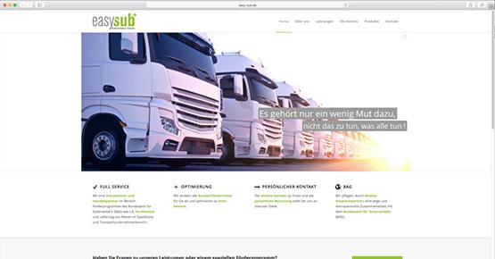 Referenz Webseite easy-sub